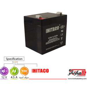 باتری یو پی اس 12 ولت 4.5 آمپر هیتاکو